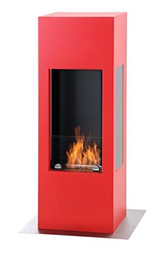 muenkel design prism fire Bioalkohol Kamin: Feuerrot