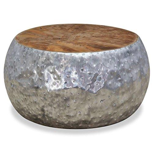 vidaxl teak beistelltisch alu aluminium couchtisch. Black Bedroom Furniture Sets. Home Design Ideas