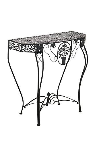 Blumentisch Navan, Gartentisch Tisch, Metall ~ Schwarz