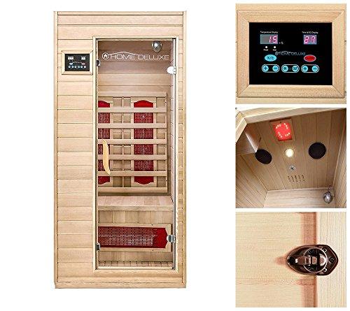 Home Deluxe Infrarotkabine | Redsun S | Keramikstrahler | inkl. vielen Extras und komplettem Zubehör