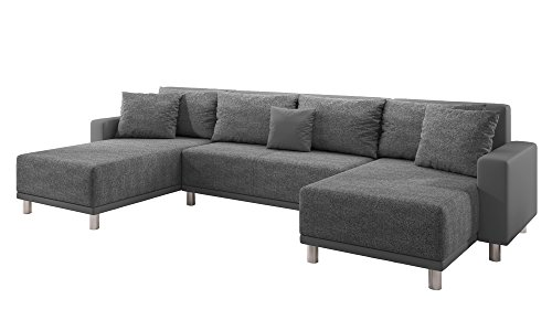 Inter Sofa Road Grau U-Form Schlafsofa Ecksofa