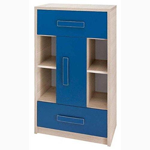 JUSTyou Bregi BR VII Kommode Sideboard Wohnzimmerschrank Blau (HxBxT): 103x60x40 cm