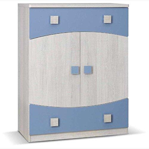 JUSTyou Tenus TN VII Kommode Sideboard Wohnzimmerschrank Blau (HxBxT): 103x80x40 cm