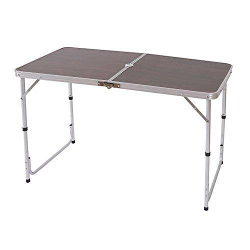 Mendler Campingtisch T367, Klapptisch Gartentisch Koffertisch ~ 68x120x60cm mit Schirmloch