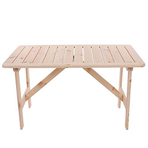 Mendler Gartentisch Holztisch Kopenhagen 130 x 80 cm Gastroqualität ~ natur