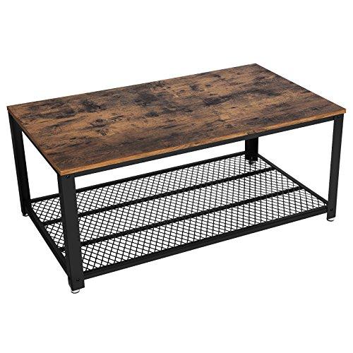 songmics couchtisch wohnzimmertisch sofatisch mit stauraum vintage kaffeetisch stabil mit. Black Bedroom Furniture Sets. Home Design Ideas