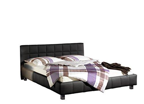 maintal polsterbett java 100 x 200 cm kunstleder bettgestell ohne matratze schwarz m bel24. Black Bedroom Furniture Sets. Home Design Ideas