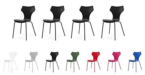 Tenzo 0601-024 Lolly 4er-Set Designer Stühle Holz