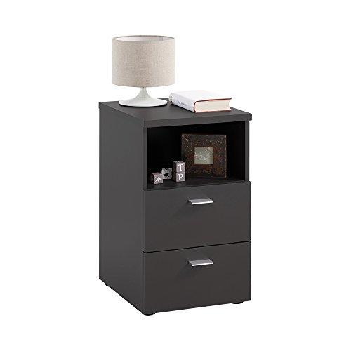 Unbekannt FMD Möbel Colima 1 Nachtkonsole, Holz, schwarz, 35 x 40 x 61.5 cm