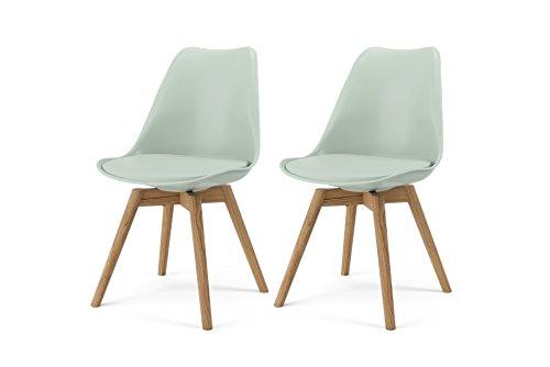 tenzo 2er- Set Stühle, Holz, Salbei, 51 x 48,5 x 83 cm