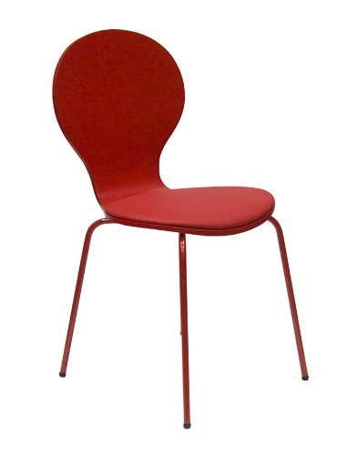 tenzo Stuhl Flower 610 / Beine lackiert/in rot
