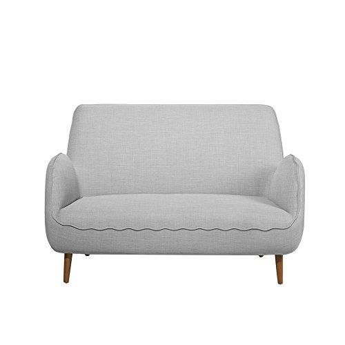 Beliani 2-Sitzer Sofa Polsterbezug Hellgrau KOUKI