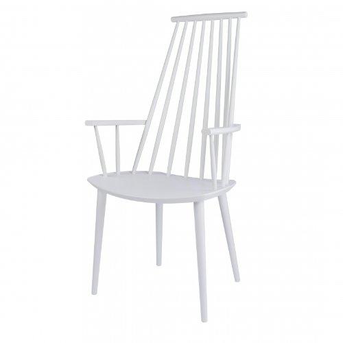 HAY J110 Armlehnstuhl, weiß lackiert