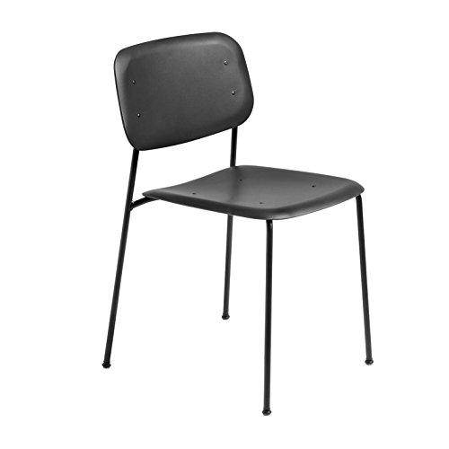 HAY Soft Edge P10 Stuhl Gestell Stahl schwarz, schwarz Kunststoff BxHxT 50x79x52,5cm Gestell Stahl schwarz