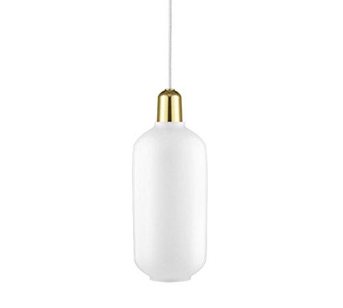 Normann Copenhagen - Pendelleuchte - Amp Lamp Large Brass EU - Weiß/Messing - H26 x Ø11,2 cm