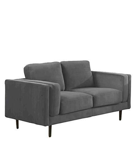 Sedex Neapel Designercouch/Polstergarnitur / Polstercouch/Couch 2-Sitzer Kunstleder Hellgrau