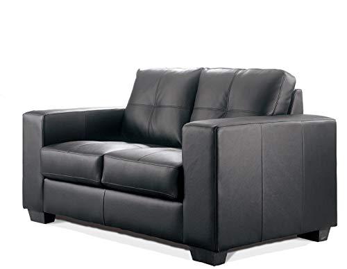 Sofa Madelaine/Designercouch / Polstercouch/Couch 2-Sitzer Pellissima/Sessel / Kunstleder - schwarz