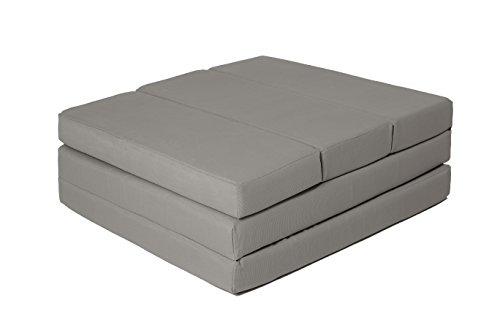 Zollner Klappmatratze Gästematratze faltbar, 65x220 cm, anthrazit (weitere verfügbar) mit Abnehmbaren Bezug