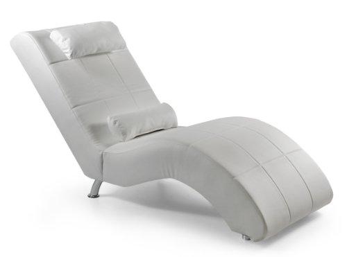 Relaxliege Enjoy 165 x 66 cm, Kunstleder, weiß
