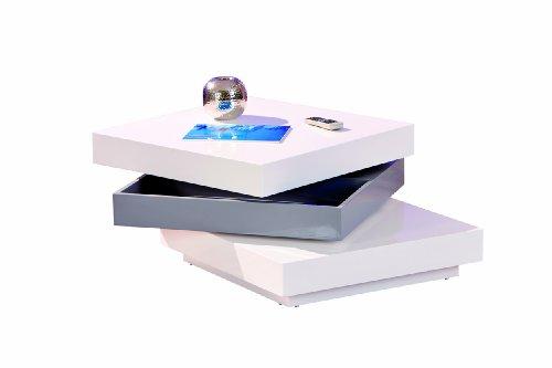 Inter Link 20800925 Couchtisch weiß hochglanz Wohnzimmertisch Wohnzimmer Tisch Design modern 70x70