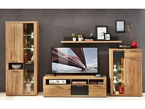 möbelando Wohnwand Anbauwand Mediawand Schrankwand TV-Wand Wohnzimmerwand Bakersfield I