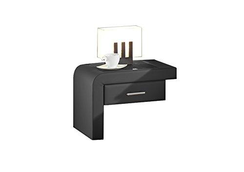 Maintal Betten 238682-4693 Einhängekonsole Java links, Kunstleder schwarz